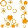 Fliesentattoo orange Kreise Set
