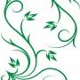 Gardinenbahnen grüne Ornamente