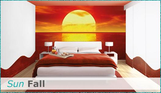 Schlafzimmerdesign Sun Fall