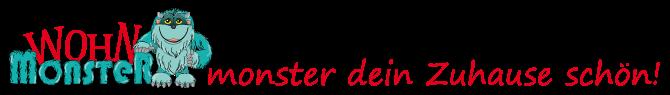Wohnmonster -  Ihr Onlineshop für individuelles Wohndesign und Dekorieren | SCHÖNER WOHNEN | Forotapeten | Wandtatoos | Zimmerkonzepte | Logo